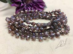 Abrigo de crochet pulsera/collar de perlas