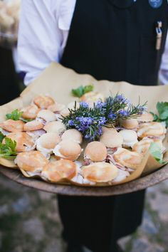 #Appetizers | Mini sandwiches| Maharaj Photography -   See the wedding on SMP - http://www.StyleMePretty.com/2013/06/25/tuscany-wedding-from-maharaj-photography/