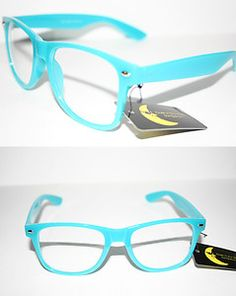 nerdy glasses= smartness;  blue nerdy glasses= swag + smartness  :)