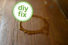 How to get rid of water stains on furniture