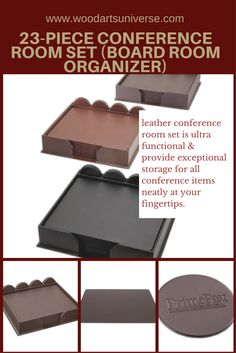 Upto off Our Top Upto off Our Top-grain black leather conference room set is ultra functional and provide exceptional storage for all conference items neatly at your fingertips. Office Essentials, Black Leather, Bonded Leather, Office Organization, Organizing Your Home, Finding Joy, Room Set, Getting Organized, Wood Art