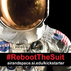Thanks to your generous support of #RebootTheSuit, we're halfway to our goal! Help us spread the word about conserving, digitizing and displaying Neil Armstrong's #Apollo11 spacesuit.