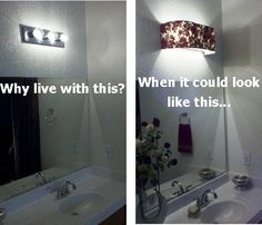 Bathroom Vanity Lampshades, Light Covers