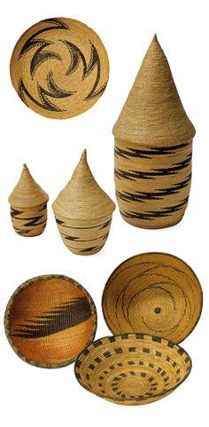 baskets from the Tutusi people of Rwanda or Burundi