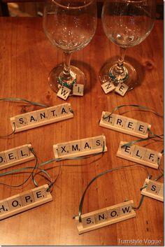 Scrabble Letter Ornaments