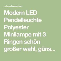 Modern LED Pendelleuchte Polyester Minilampe mit 3 Ringen schön großer wahl, günstiger preis