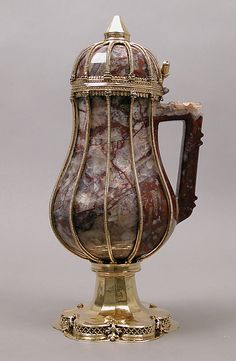 Ewer  Date: 14th–15th century Culture: German or Rhenish Medium: Jasper body, silver-gilt mounts