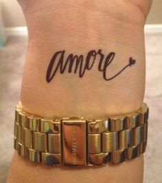 Amore (love) tattoo