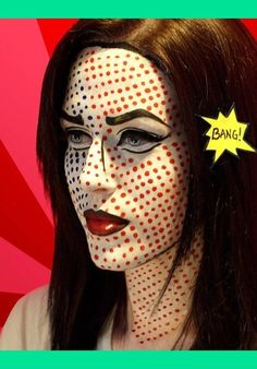 Comic Book Girl Costume makeup