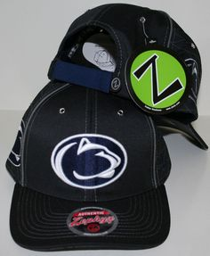 18097bede9d Penn State Nittany Lions Black and White Synthesis Adjustable Hat by Zephyr