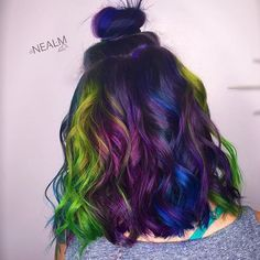 Image result for bright jewel tone hair