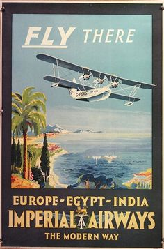 A short Calcutta Flying Boat about to land amid an exotic harbour.