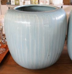 Aqua Ceramic Pot - Inside Out Home Boutique How To Find Out, Aqua, Vase, Ceramics, Boutique, Accessories, Home Decor, Ceramica, Water