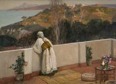 Evening, Tangiers, 1906 - Sir John Lavery (Irish, 1856-1941) Impressionism