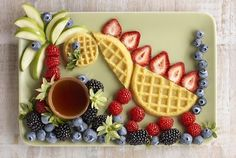 A Berry Delicious Dinosaur Breakfast | Community Post: 14 Insanely Cute Food Art Creations To Make This Summer