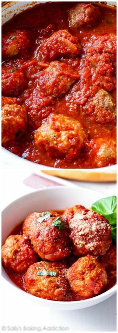 Crockpot Turkey Meatballs by sallysbakingaddiction: These classic turkey meatballs are spiced just right, incredibly tender, filled with tons of flavor, and there's hardly any work involved. #Meatballs #Turkey #Crockpot #Easy