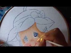 Pintura en tela niña fresa # 1 con cony - YouTube