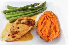 This NEW chicken recipe has great flavors with a bit of a kick! The adobo sauce adds a spicy, smokiness. Yummy to serve with baked sweet potatoes and roasted asparagus. See links under serving tip below. Each serving has only 183 calories, 4 gram
