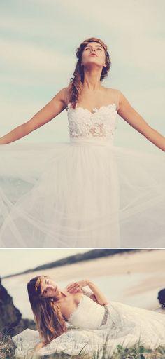 white lace wedding dress A Grace Loves Lace