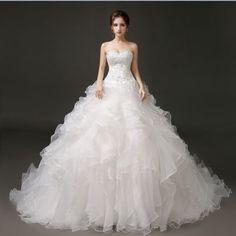 New-White-ivory-Wedding-dress-Bridal-Gown-custom-size-6-8-10-12-14-16