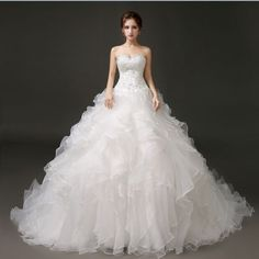 New-White-ivory-Wedding-dress-Bridal-Gown-custom-size-6-8-10-12-14-16