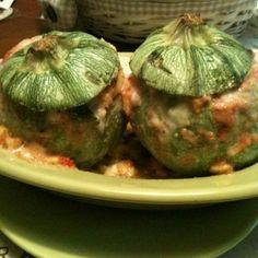 Zucchine rotonde ripiene, di Mi dai la ricetta. #ricette #cucina italiana #food