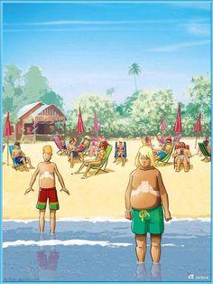 En la playa con tu smartphone. #humor #risa #graciosas #chistosas #divertidas