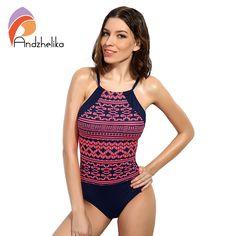 93f7d16d944 Andzhelika 2017 Sexy Vintage Summer Beach Wear Print Bodysuits Monokini.  One Piece Swimwear, One Piece Swimsuit ...