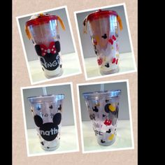 Mickey Mouse Vinyl Cups