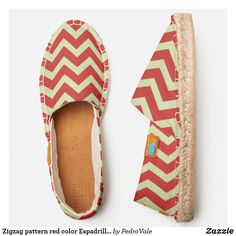 Zigzag pattern red color Espadrilles