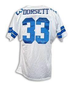 e78331ae9a4 Tony Dorsett Dallas Cowboys Autographed White Throwback Jersey Inscribed