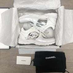 0a0be151986 CHANEL transparent PVC sneakers trainersWhite Size 41 SS2018 collection  Chanel Sneakers