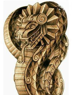 Quetzalcoatl the feathered serpent Aztec Tattoo Designs, Aztec Designs, Cholo Art, Chicano Art, Quetzalcoatl Tattoo, Inka Tattoo, Aztec Drawing, Mayan Tattoos, Aztec Symbols