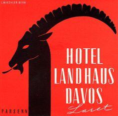 #LuggageLabel design by L.M. Kohler, Hotel Landhaus Davos, Laret, Parson, #Switzerland