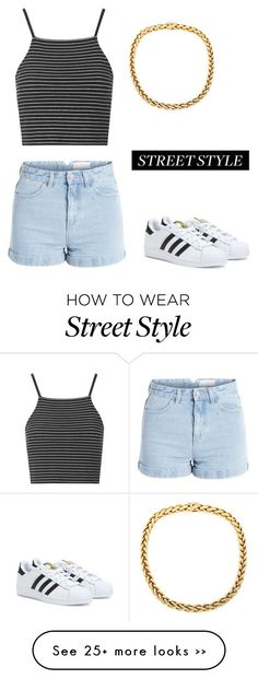 """Mood"" by merlinsyu on Polyvore featuring Pieces, Topshop and adidas"