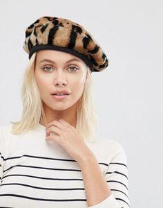 Urbancode Faux Fur Leopard Beret