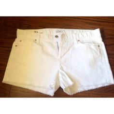 White Jean Shorts from LOFT Awesome white Jean shorts, perfect for spring into summer! Not super short and in perfect condition, only worn once! They are also very flattering and a great material. LOFT Shorts Jean Shorts