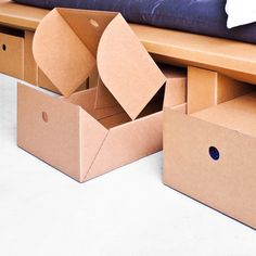 cardboard bed with drawers -  STANGE DESIGN, Berlin
