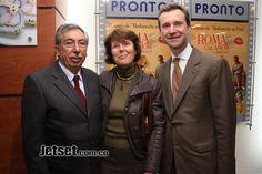Premier De Roma con Amor, Elio Menzione, Elizabeth Dutrémit y Francesco Taliani