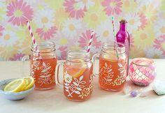 DIY: Hand-Painted Mason Jar Mugs