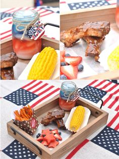 Vintage Americana 4th July Party BBQ   NEW Printable Designs! by Bird's Party #4thJuly #independenceDay #USA #party #partyideas #printables #partyprintables #decorations #BBQ #cookout