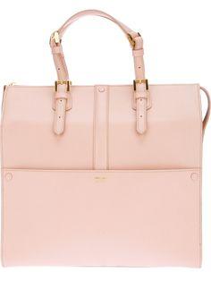 Baby Pink Giorgio Armani Tote Bag