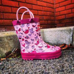 Happy Valentines !! www.chipmunksfootwear.co.uk #lovebirds #valentines #wellingtons #footwear #childrens