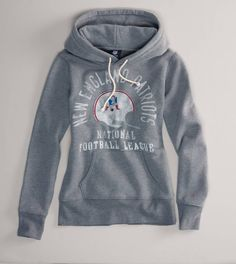 Men's New England Patriots Majestic Navy First Down Tri-Blend Pullover Hoodie