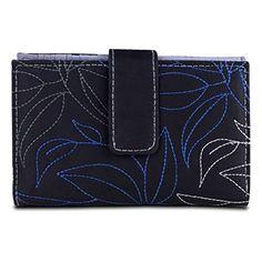 Travelon SafeID Leaves Tri-Fold RFID Wallet - Black/Grey