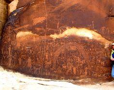 Rochester Panel - San Rafael Swell, Utah Panel Art, Natural Wonders, Prehistoric, Ancient History, Rock Art, Vacation Spots, Painted Rocks, Utah, Scenery
