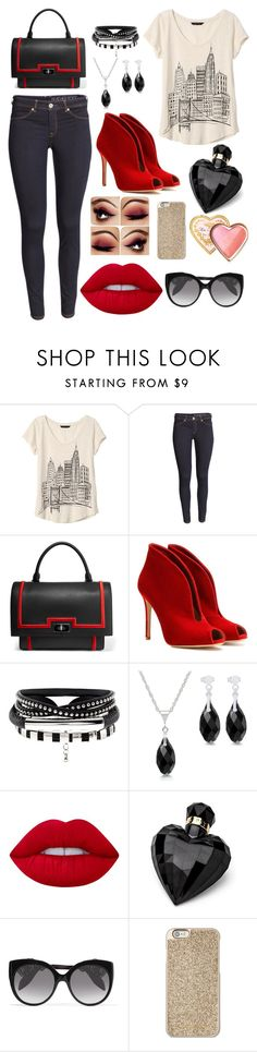 """""""To the City"""" by rnieass on Polyvore featuring Banana Republic, Givenchy, Gianvito Rossi, Lime Crime, Lipsy, Alexander McQueen, Michael Kors and Too Faced Cosmetics"""