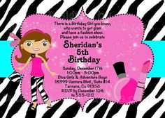 Fashion Runway Birthday Party Invitation, Red Carpet Emmy Awards Invitations by Cutie Patootie Creations www.cutiepatootiecreations.com