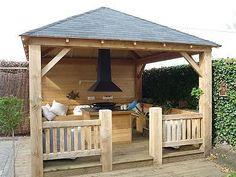 Buitenleven on pinterest tuin wooden hearts and shelters - Prieel buiten ...