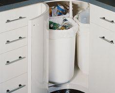 Door Mounted Kitchen Garbage Can With Lid Collectibles Pin By Kitchensource.com On Follower Finds | ...